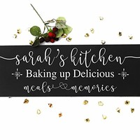 Personalized kitchen signs gifts decor items kitchen decor art gift for mom birthday wall decor gift for cook chef custom kitchen sign gift for grandma grandpa birthday. Sign #K01