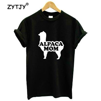 Alpaca Mom Women t-shirt  Cotton