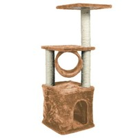 """Pingkay Deluxe Cat Tree 36"""" Condo Furniture Scratching Post Pet House Play Toy Brown Color"""