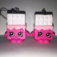 Shopkins Foodie Earrings - Cheeky Chocolate - repurposed toys