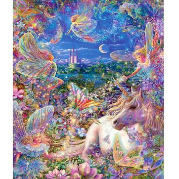 Diy Diamond Painting Horse Child's Fairy Tale Series Hobby Handmade Needlework Wall Decor Picture of Resin Rhinestones Scroll