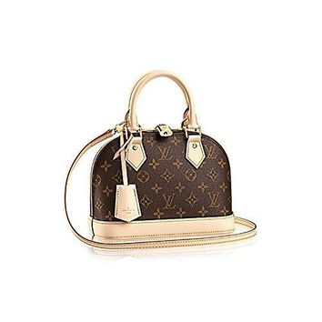 Louis Vuitton Monogram Canvas Alma Bb Hand Cross Body Carry Handbag Article: M53152