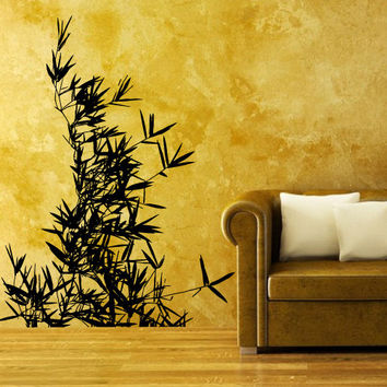Wall Decal Vinyl Sticker Decals Art Decor Design Leaves nature Plants Flower Branch Trees foliage Dorm Bedroom House Fashion gift (m1319)