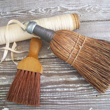 2 vintage whisk brooms by KatyBitsandPieces on Etsy