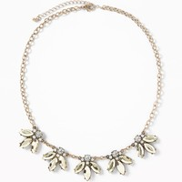 Crystal-Cluster Statement Necklace for Women |old-navy