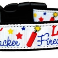 Little Firecracker Dog Collar Medium