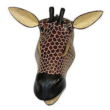 Hand-carved African Giraffe Mask