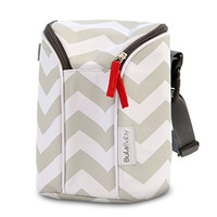 Bula Baby Insulated 2 Bottle Tote Bags - Keep Baby Bottles Warm or Cool - Chevron