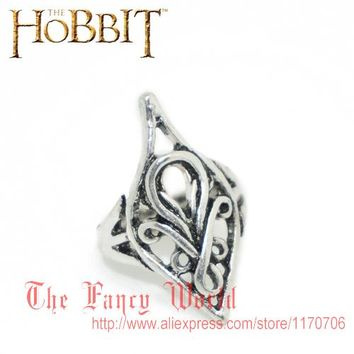 Hobbit elf lord Elrond Silver Ring LOTR The Lord of Rings men jewelry hot sale high quality fan gift