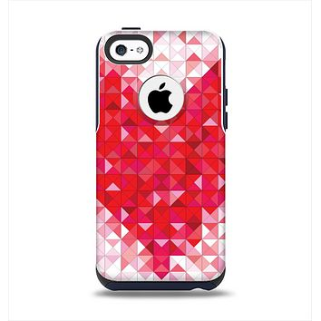 The Geometric Faded Red Heart Apple iPhone 5c Otterbox Commuter Case Skin Set