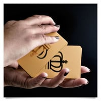 Cool Deck Playing Cards Gold Plated Design Plastic Card Games Clearance Sale