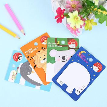 DCCKL72 1 PCS New Arrival Animals N Times Self Adhesive Memo Pad Sticky Notes School Office Supply Creative Gifts for Kids