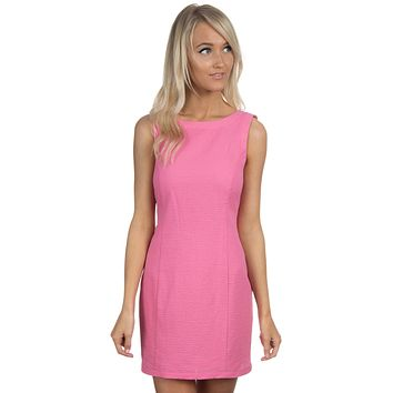 The Harper Solid Seersucker Dress in Rose by Lauren James - FINAL SALE