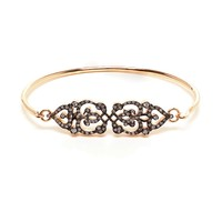 Sabine G 'Medieval' 18K Rose Gold And Diamond Bangle