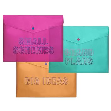 Small Schemes / Grand Plans / Big Ideas Plastic Storage Envelope Set