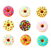 Tiny Donuts Stud Earrings - Small Ear Studs - Earrings Post - Food Jewelry