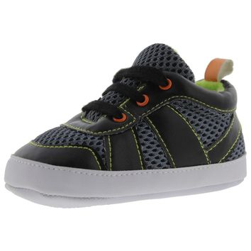 Luvable Friends Infant Faux Leather Athletic Shoes