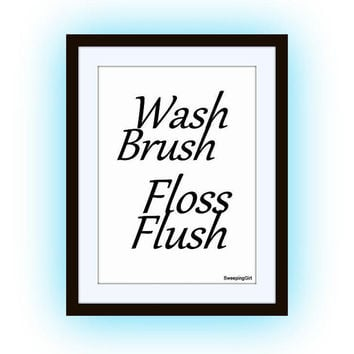 image regarding Wash Brush Floss Flush Free Printable referred to as Retail outlet Clean Brush Floss Flush upon Wanelo