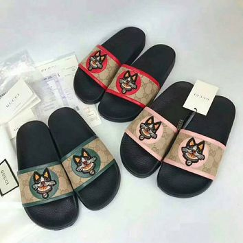 Gucci Shoes Slides Summer Beach Outdoor Casual Sandals Slippers House Flip Flops