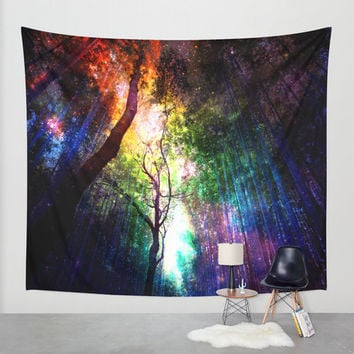 rainbow wall tapestry.forest wall tapestry.colorful wall tapestry.red wall tapestry.yellow wall tapestry.green wall tapestry.nature tapestry
