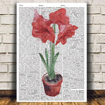 House plant decor Plant poster Flower print Watercolor print RTA1578