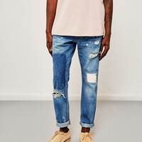 Edwin ED-55, Regular Tapered, 63 Rainbow Selvedge Jeans, Pulled Wash