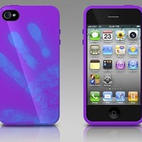 Xtrememac Exclusively Formulated Color Changing Tuffwarp Shift Case IPP-MO5-43 for Iphone 4/4s- Purple to Blue
