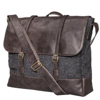 Merona® Men's Messenger Bag - Gray/Brown