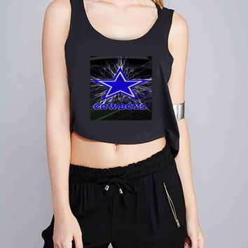 Dallas Cowboys for Crop Tank Girls S, M, L, XL, XXL *07*