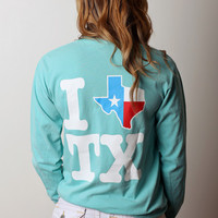 I Texas Texas Long Sleeve - Mint