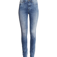 H&M - Skinny High Jeans - Light denim blue - Ladies