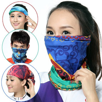New Arrival Magic Head Face Mask Snood Bandana Neck Riding Warmer Wrap Shawl Magic Scarf For Women Men Unisex