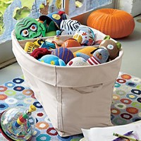 Colorful Large Canvas Bins in Toy Boxes & Bins | The Land of Nod