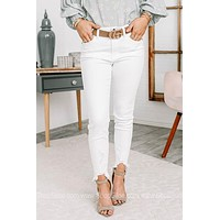 Weekend Muse White High Rise Ankle Skinny Jeans
