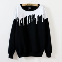 Womens fall fashion harajuku sweatshirt paint pattern fashion style sweatshirts