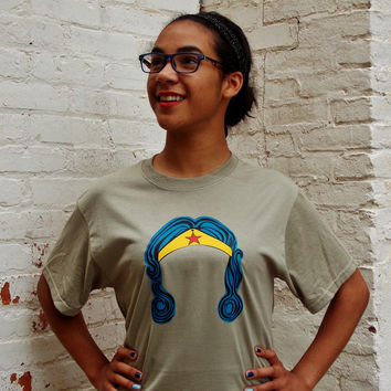 Amazon Princess T-Shirt. Comic Book Shirt. Unisex Size Shirt.
