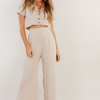 Walk This Way Pant // Nude