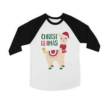 Christ Llamas BKWT Kids Baseball Shirt