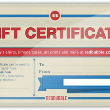 Gift Certificates | Redbubble