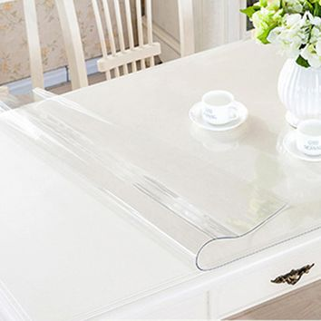 yazi Transparency PVC Tablecloth Waterproof Oilproof Heat Insulation Table Cover Kitchen Dining Placemat Pad Thickness 1.0mm