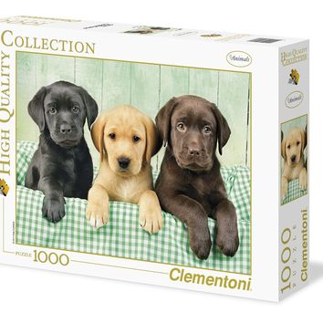 Three Labs - 1000 Piece Jigsaw Puzzle