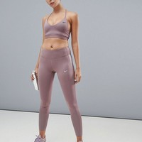 Nike Training Indy Light Bra & Leggings In Smokey Mauve at asos.com