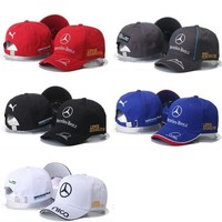 Mercedes Benz Sandwich Peaked Baseball Caps/Hats Adjustable For Unisex