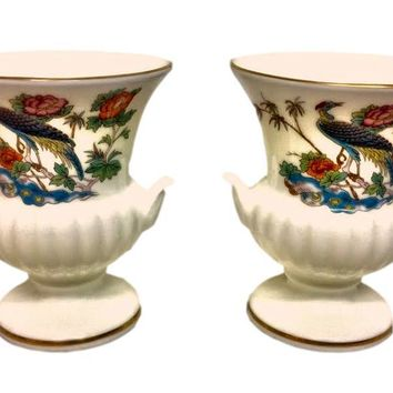 Kutani Crane by Wedgwood Mini Vases