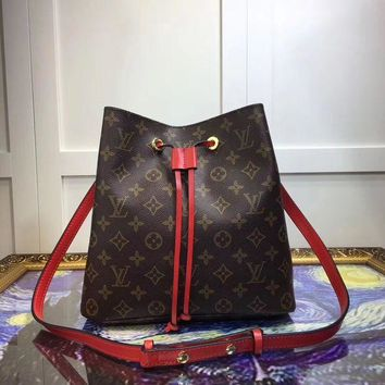 DCCK7J3 Louis Vuitton Women Fashion Leather Satchel Shoulder Bag Handbag Crossbody Bucket bag