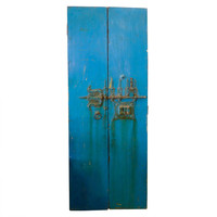 1STDIBS.COM - BG Galleries - antiques, vintage & modern design - Pair of 19th C Painted Doors from India