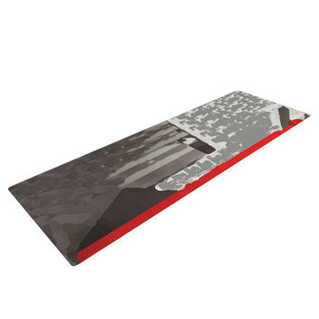 "Oriana Cordero ""London"" Red Gray Yoga Mat"