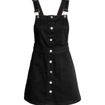 Denim Bib Overall Dress - from H&M