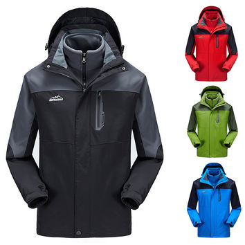 2016 Men's winter Thickening warming windproof waterproof windbreaker jacket brand casual Hooded Outerwear Coat