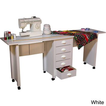 Venture Horizon Double Mobile Desk/Craft Center and Sewing Machine Table - N/A